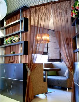 Шторы и интерьер для кафе итальянской кухни BELLA NAPOLI