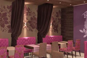 """Большой банкетный зал кафе """"Русь"""". 3D модели интерьера. Реализованный проект"""